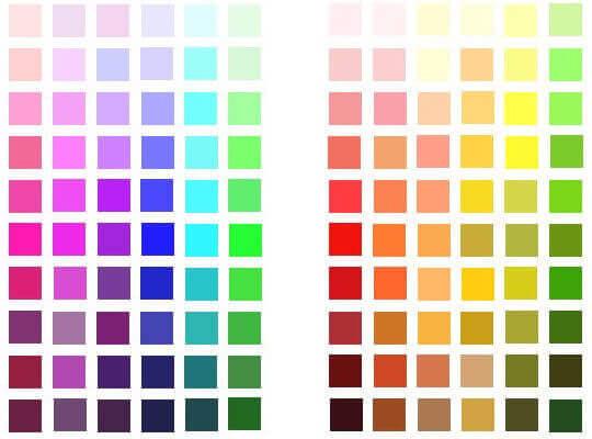 Kalla och varma färger