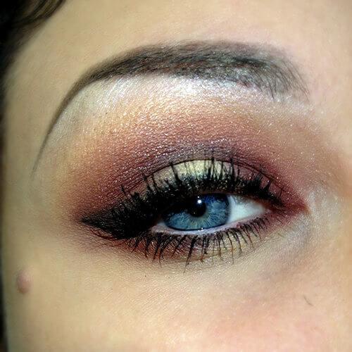 Sminkning blå ögon