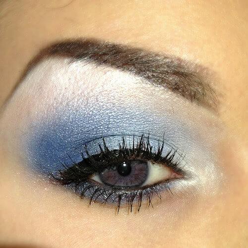 Sminkning bruna ögon